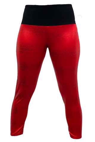 Red Sparkle Snake Yoga Pant