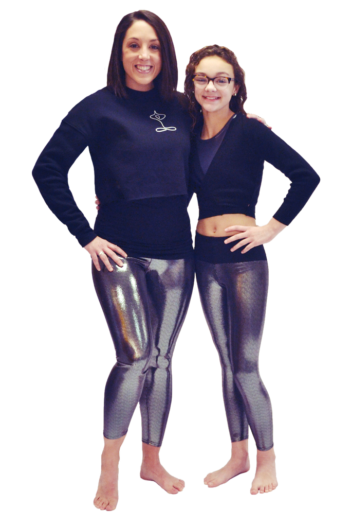 Silver Sparkle Yoga Pants