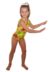Yellow Aloha Leotard
