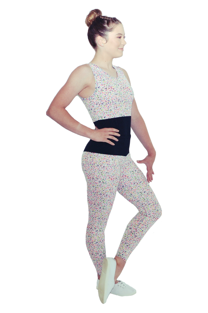 Speckled Neon Leotard and Yoga Pant Set