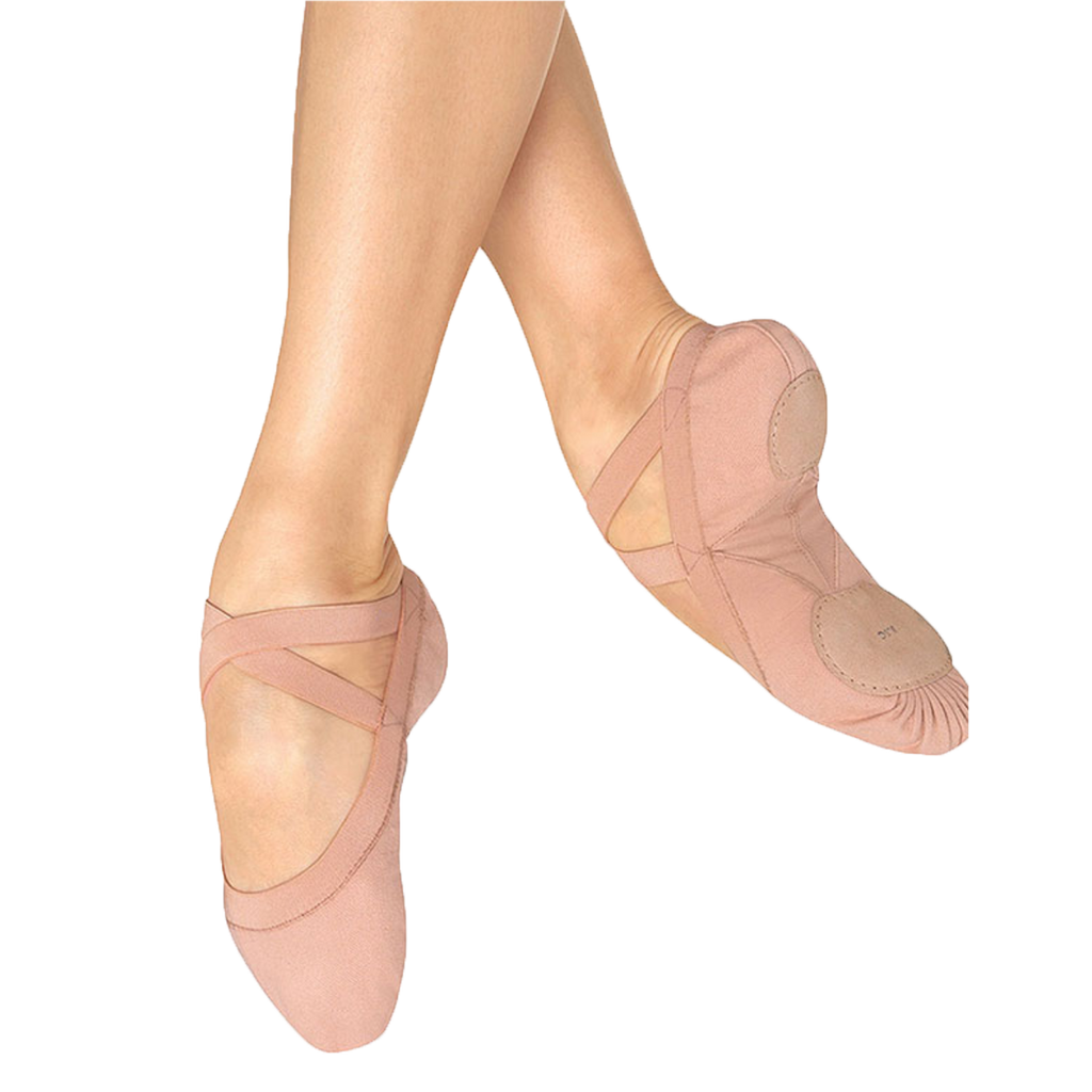 Pink Canvas Ballet Shoes
