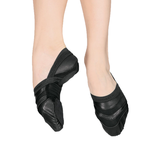 Leather and Mesh Ballet Shoes
