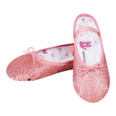 Pink Sparkle Ballet Shoes