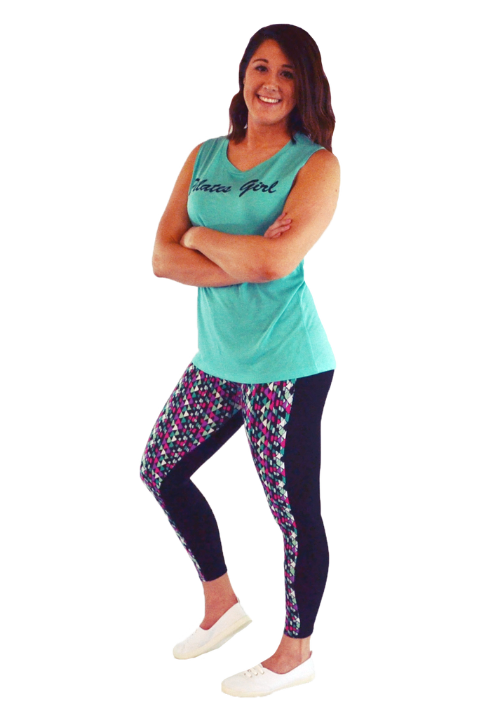 Turquoise Diamond Yoga Pants
