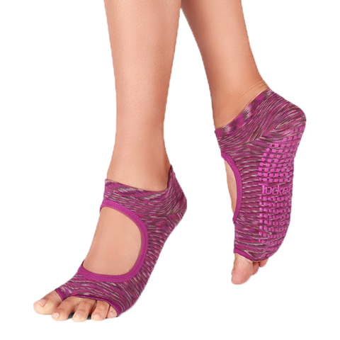 Fusion Orchid Pilates Socks