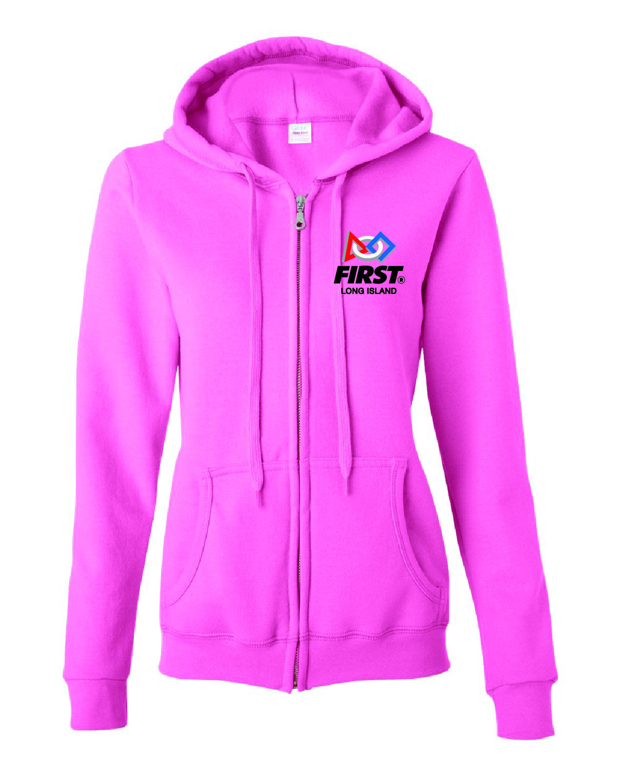 FIRST LI Heavy Blend WOMENS Full Zip Hooded Sweatshirt - 18600FL