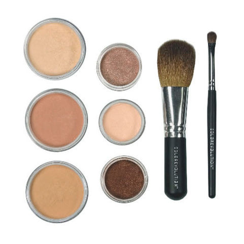 Light to medium mineral makeup