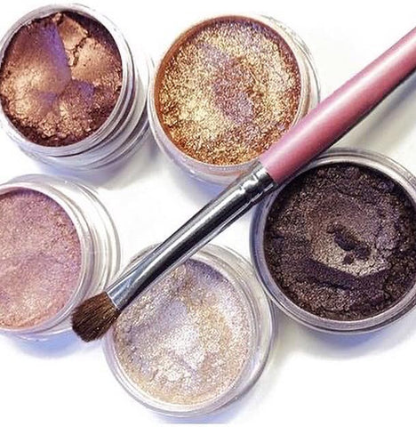 Warm and Shimmery Mineral Eyeshadows Kit
