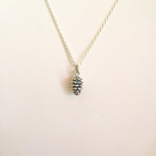 Pinecone Neclkace Sterling
