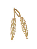 Diamond Feather 18k earrings