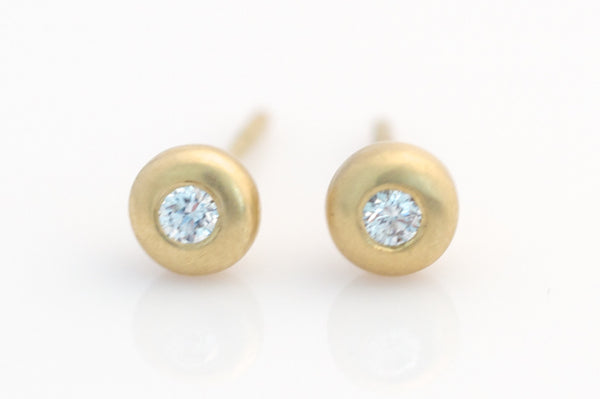 Diamond 'donut' post earrings