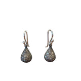 Diamond drop earrings, medium
