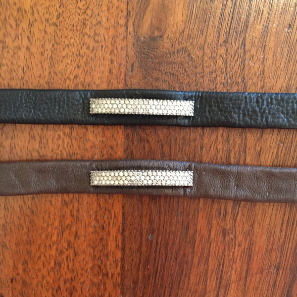 Diamond bar leather bracelet