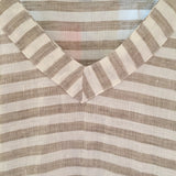 Go Go Tunic, Tan and White Stripe Linen