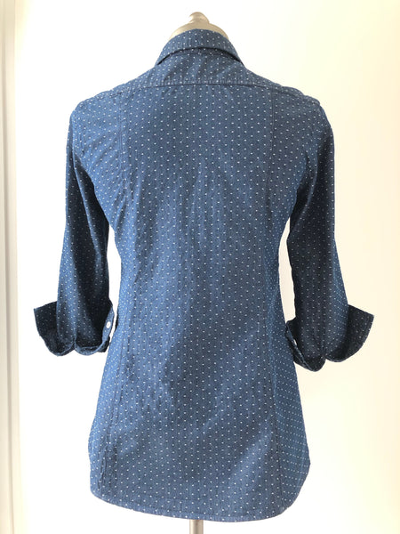 Polka dot travel blouse