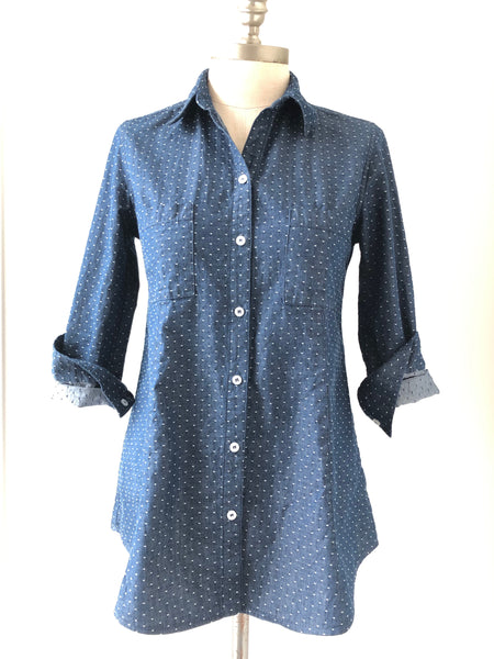 Perfect Blouse Navy Dot