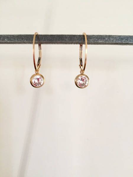 Diamond (CZ) hoop earring