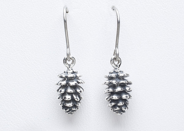 Pinecone earrings sterling