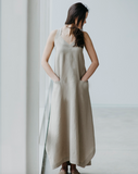 Long linen sundress (black)