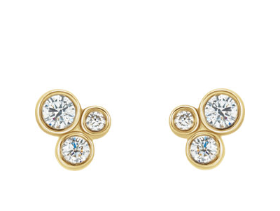 Diamond cluster post earrings