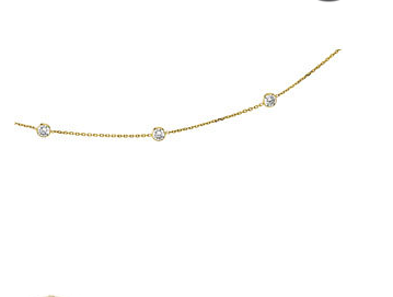 "14K Cubic Zirconia 18"" Necklace"