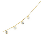 14k Cubic Zirconia Fringe Necklace