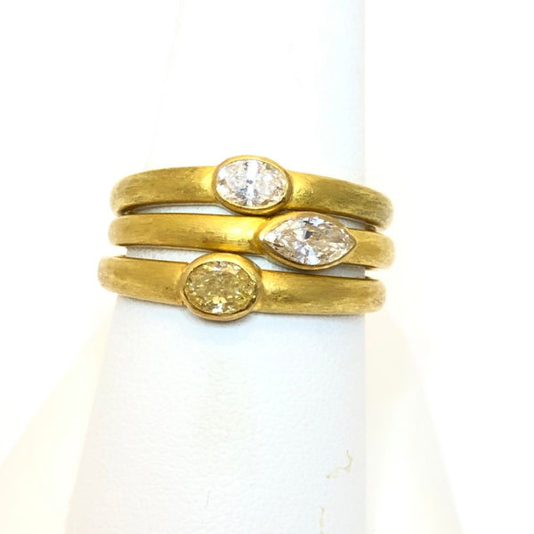 oval and marquis diamond rings