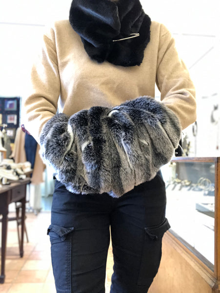A Fur collar/hand warmer (faux)