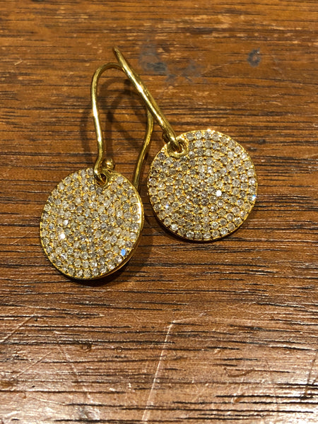 18k full moon diamond earrings