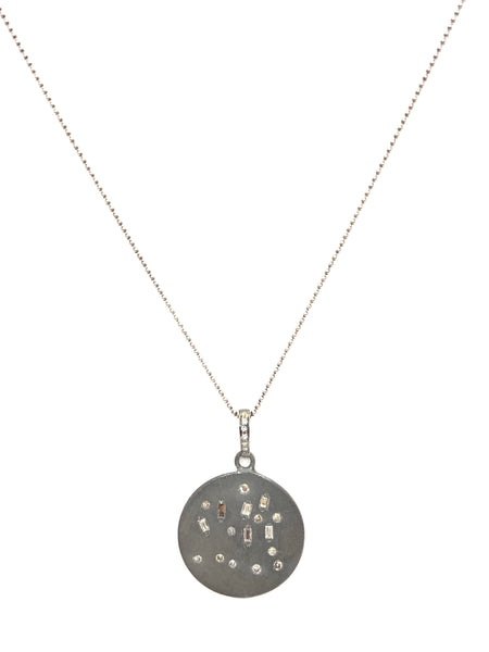 Scattered showers diamond pendant