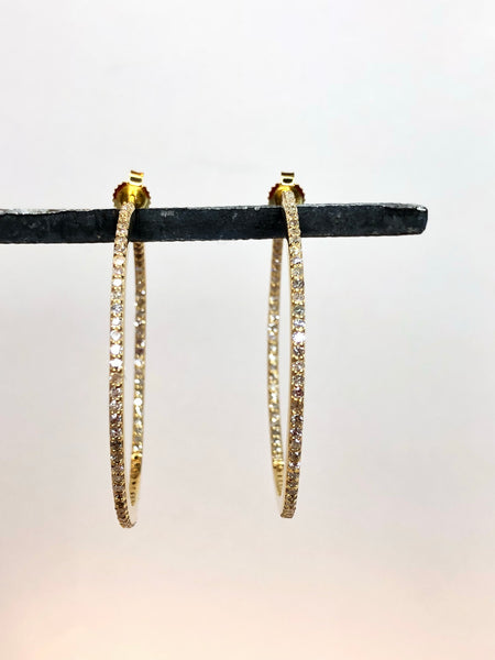 Diamond skinny hoops