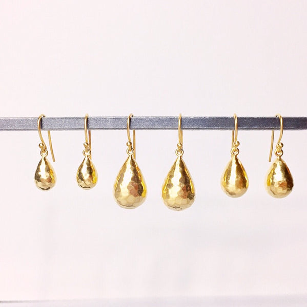Gold Raindrop earrings 18k