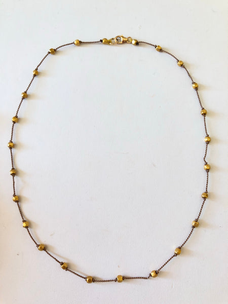 18k bead necklace