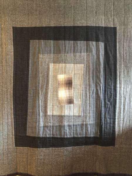 Quilt crooked window