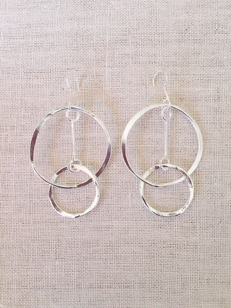 Double hoop 'peace' earrings , small