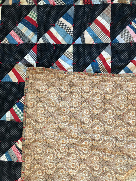 Quilt vintage 'Out of the Shadows'