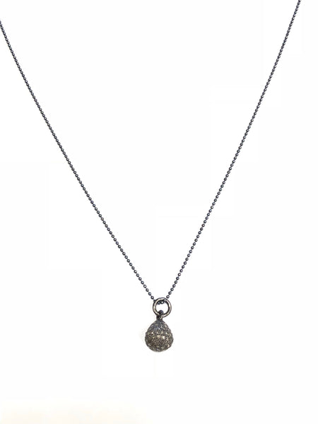 Diamond drop pendant, pave