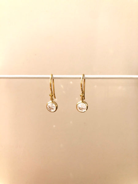 Diamond (CZ) dangle earring