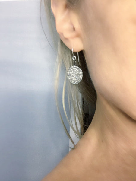 Diamond Full Moon Earrings