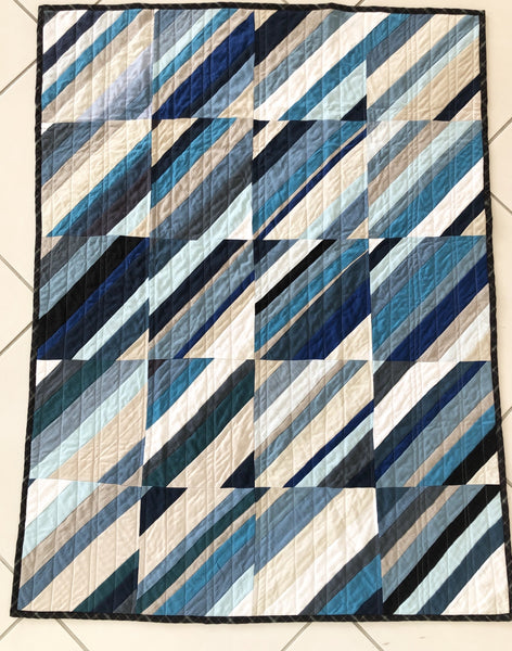 Quilt shadow and light blues