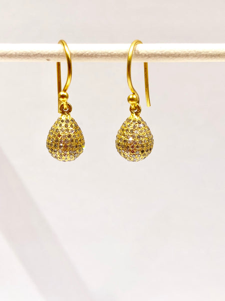 Diamond drop earrings, 18k