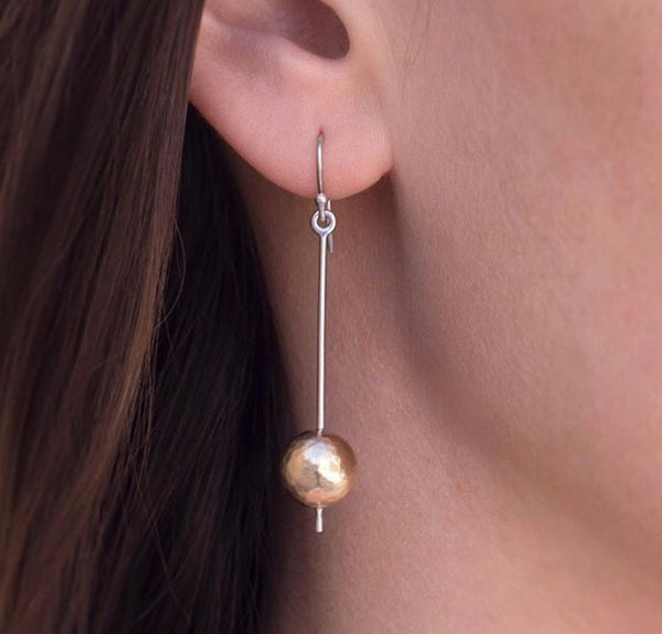 Gold silver icepick earrings