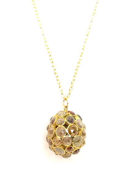 Diamond Honeycomb Pendant