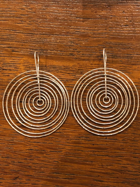Sterling 'orbit' earrings