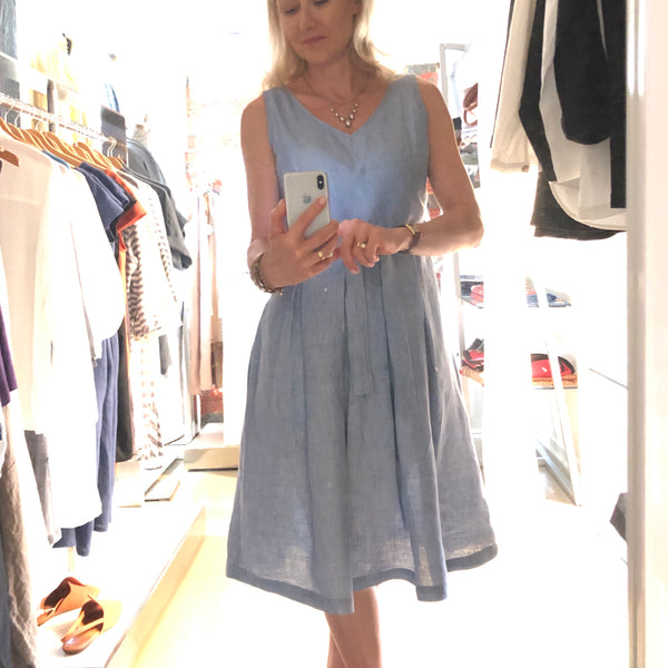 French blue day dress