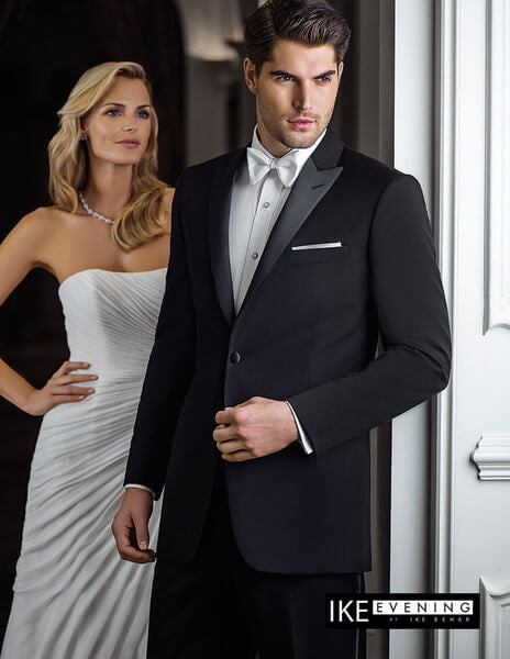 Black Peak Lapel Ultra-Slim Tuxedo Online Rental