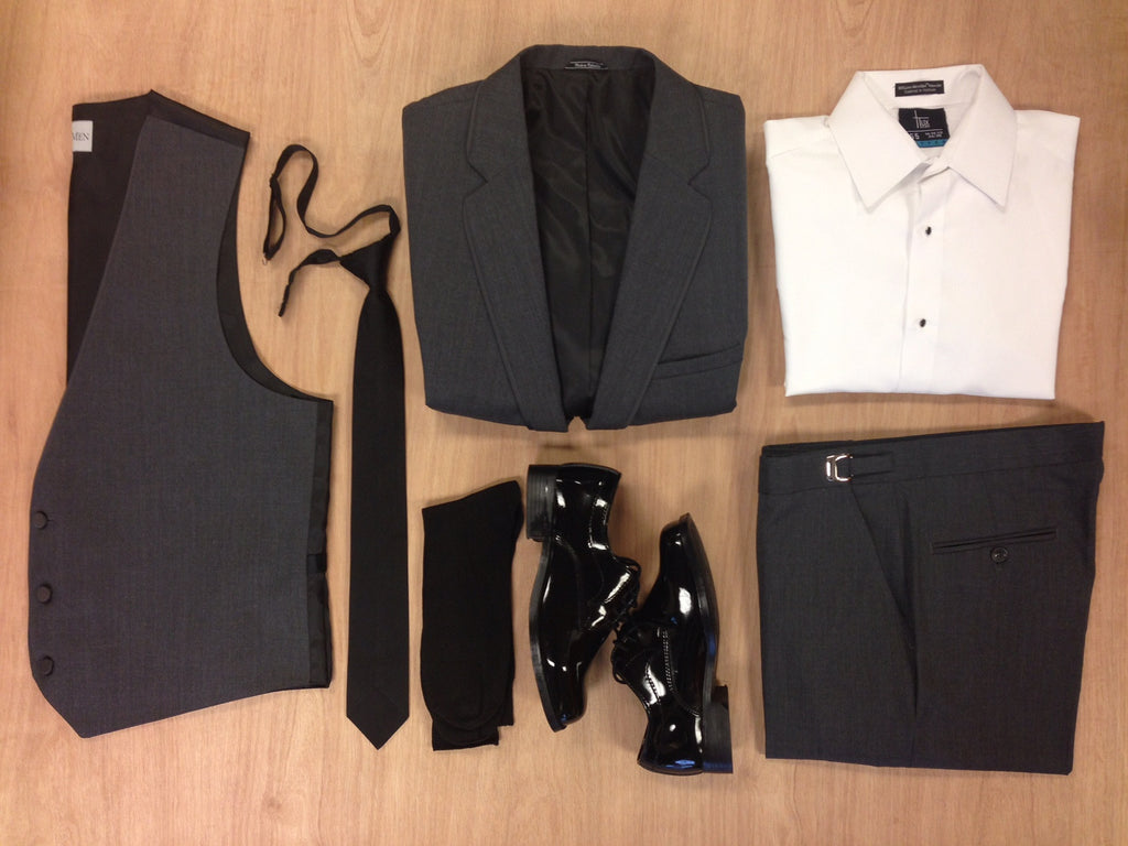 Steel Grey Allure Bartlett Tuxedo by Allure Men®: Box Contents