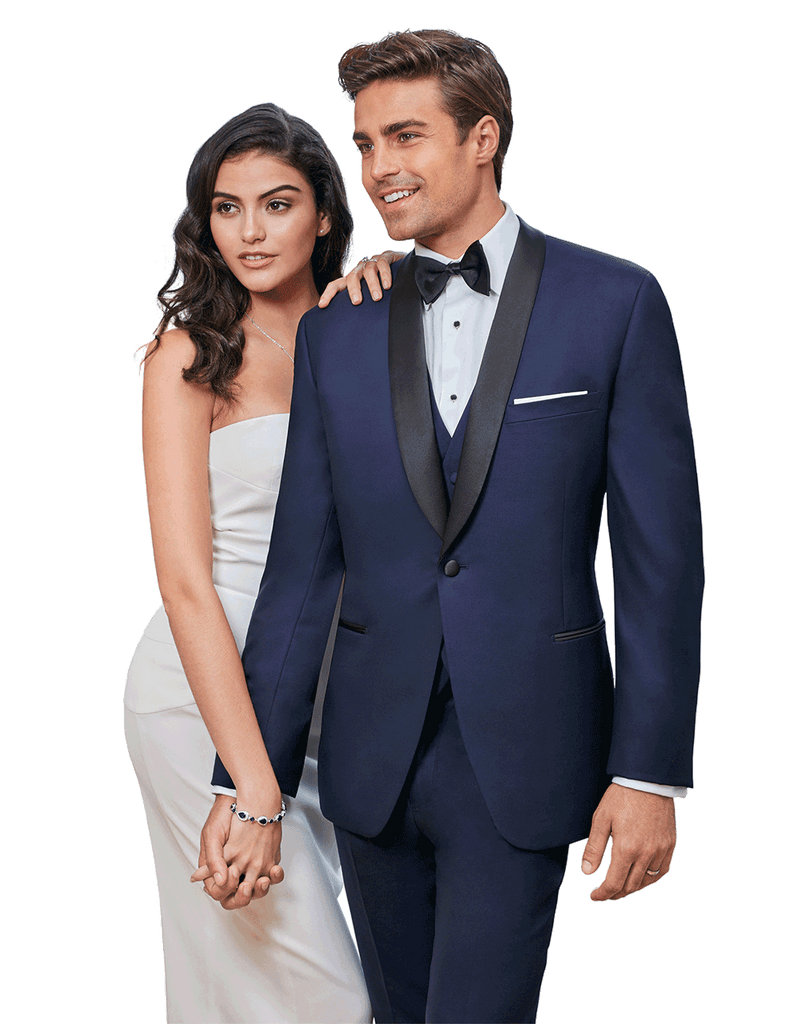 "Rent the Navy Blue Ultra-Slim ""Hudson"" Tuxedo"