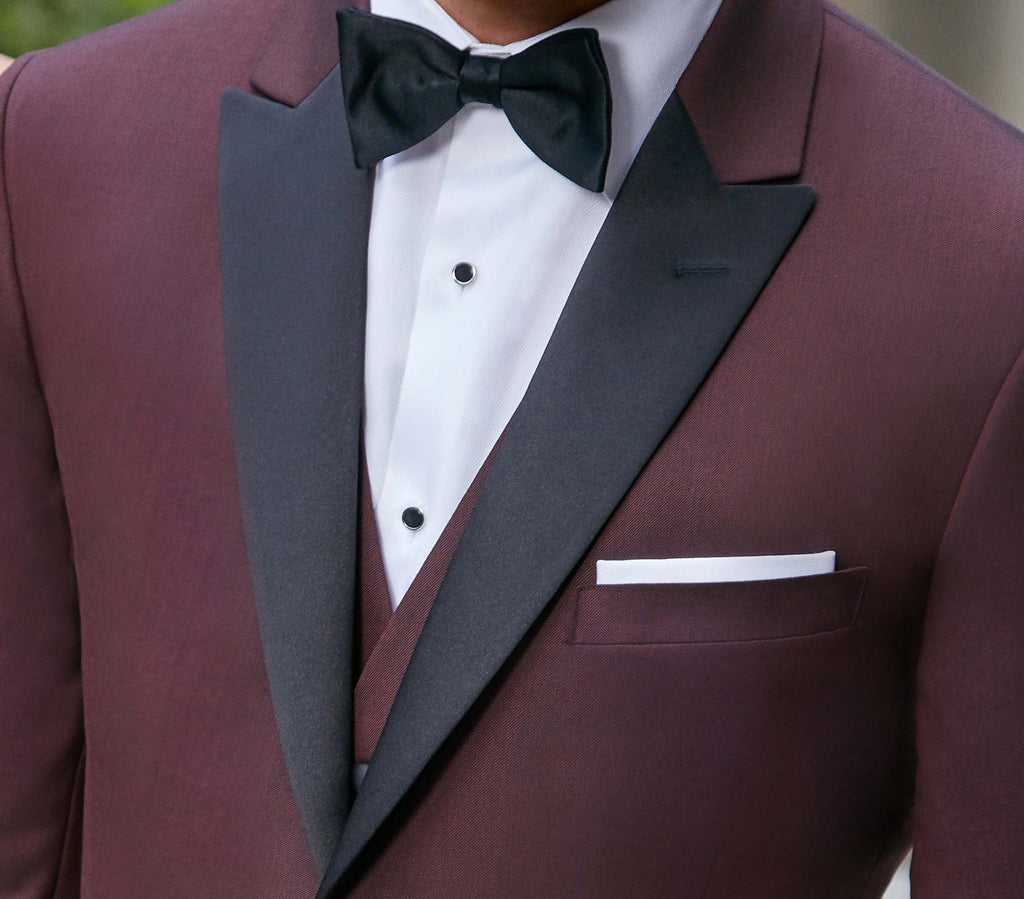 Rent the Burgundy Tuxedo Marbella Slim Fit by Ike Behar® Online