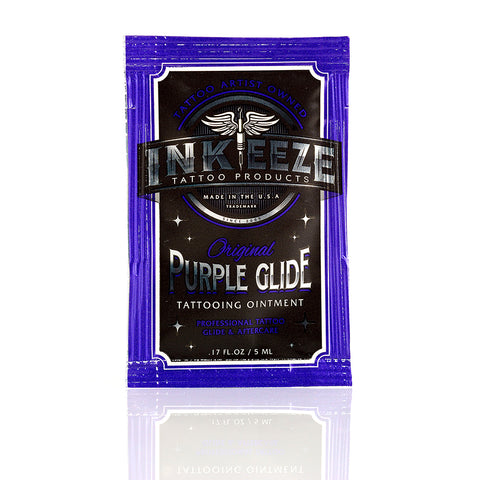 INK-EEZE's Purple Glide 5ml Packet Tattoo Ointment